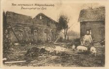 Vom ostpreussisch. Kriegsschauplatz. Bauerngehöft bei Lyck