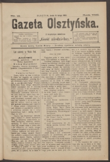Gazeta Olsztyńska, 1893, nr 13