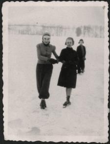 [Zima na jeziorze w Lidzbarku]