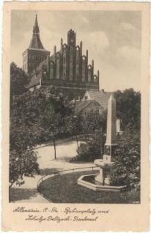 Allenstein, O.- Pr. - Belianplatz und Schulze-Delitzsch-Denkmal