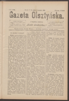 Gazeta Olsztyńska, 1893, nr 74