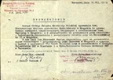 Upoważnienie do prowadzenia Domu Harcerza w Mrągowie 1951. [1]