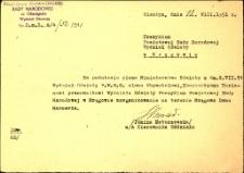 Upoważnienie do prowadzenia Domu Harcerza w Mrągowie 1951. [2]