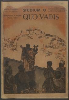 Quo vadis : studjum o powieści rzymskiej i technice powieściowej Henryka Sienkiewicza
