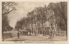 Lötzen, Ostpr. - Bahnhofstrasse mit Hindenburg-Ludendorff-Haus