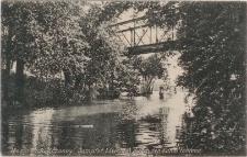 Masuren Rudczanny, Dampfer Löwentin durch den Kanal Fahrend