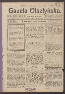 Gazeta Olsztyńska, 1898, nr 1