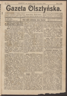 Gazeta Olsztyńska, 1898, nr 2