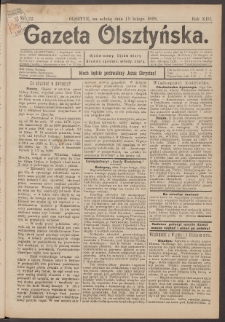 Gazeta Olsztyńska, 1898, nr 22