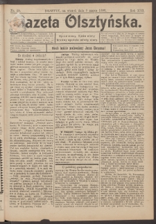 Gazeta Olsztyńska, 1898, nr 29