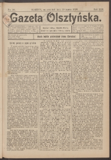 Gazeta Olsztyńska, 1898, nr 30