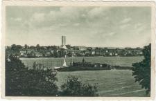 Nikolaiken, Masuren Blick auf die Seglerinsel und Stadt
