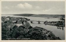 Nikolaiken Ostpr. Brücke mit Teilansicht