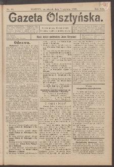 Gazeta Olsztyńska, 1898, nr 68