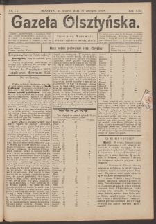 Gazeta Olsztyńska, 1898, nr 74