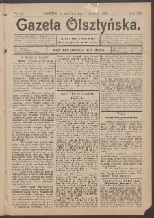 Gazeta Olsztyńska, 1898, nr 93