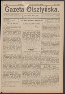 Gazeta Olsztyńska, 1898, nr 113