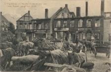 Ortelsburg - Wochenmarkt in der von den Russen zerstörten Stadt