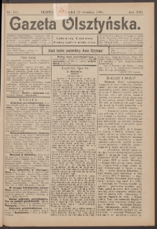 Gazeta Olsztyńska, 1898, nr 114