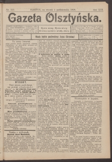 Gazeta Olsztyńska, 1898, nr 119
