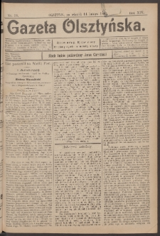 Gazeta Olsztyńska, 1899, nr 19
