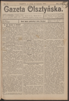 Gazeta Olsztyńska, 1899, nr 47