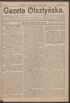 Gazeta Olsztyńska, 1899, nr 61