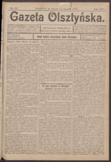 Gazeta Olsztyńska, 1899, nr 69