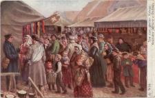 Vor dem großen Kriege. Masurischer Jahrmarkt in Ortelsburg
