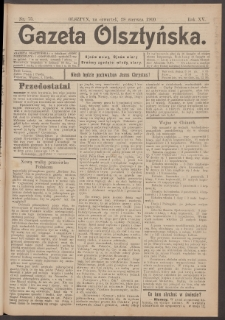 Gazeta Olsztyńska, 1900, nr 75