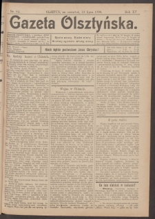 Gazeta Olsztyńska, 1900, nr 84