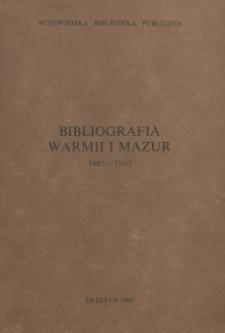 Bibliografia Warmii i Mazur 1965-1967