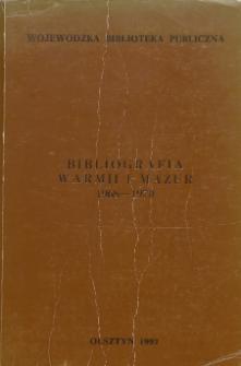 Bibliografia Warmii i Mazur 1968-1970