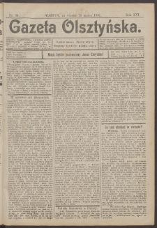 Gazeta Olsztyńska, 1901, nr 34