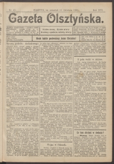Gazeta Olsztyńska, 1901, nr 43