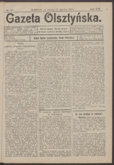 Gazeta Olsztyńska, 1901, nr 68