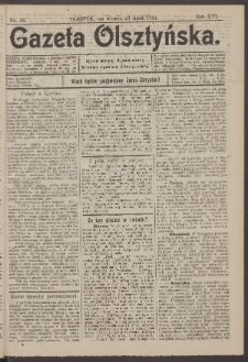 Gazeta Olsztyńska, 1901, nr 86