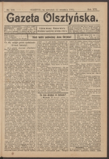 Gazeta Olsztyńska, 1901, nr 108