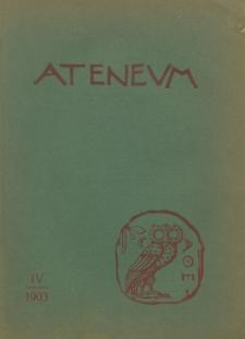 Ateneum, 1903 (R. 1), z. 4