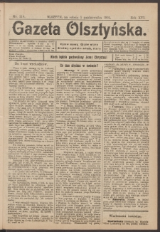 Gazeta Olsztyńska, 1901, nr 118