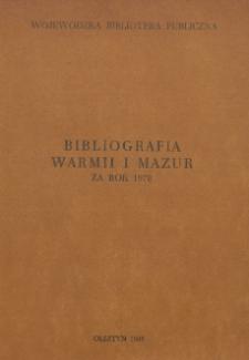 Bibliografia Warmii i Mazur za rok 1978