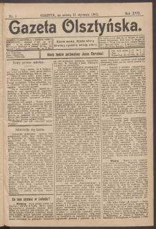 Gazeta Olsztyńska, 1902, nr 5