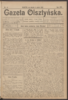 Gazeta Olsztyńska, 1902, nr 27