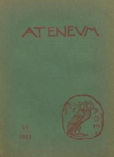 Ateneum, 1903 (R. 1), z. 6