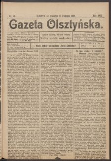 Gazeta Olsztyńska. 1902, nr 45