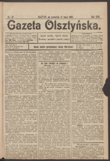 Gazeta Olsztyńska. 1902, nr 57