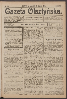 Gazeta Olsztyńska, 1902, nr 101