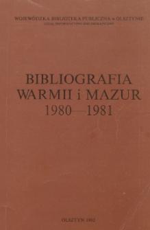 Bibliografia Warmii i Mazur 1980-1981