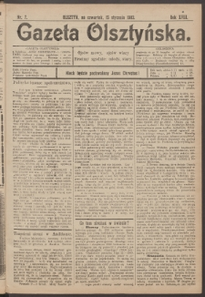 Gazeta Olsztyńska, 1903, nr 7