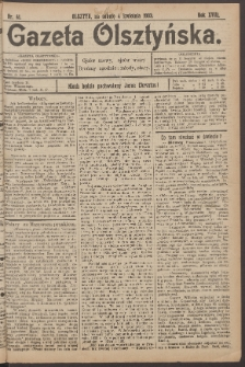 Gazeta Olsztyńska, 1903, nr 41